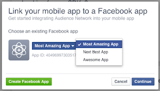 Memilih Aplikasi ID Facebook